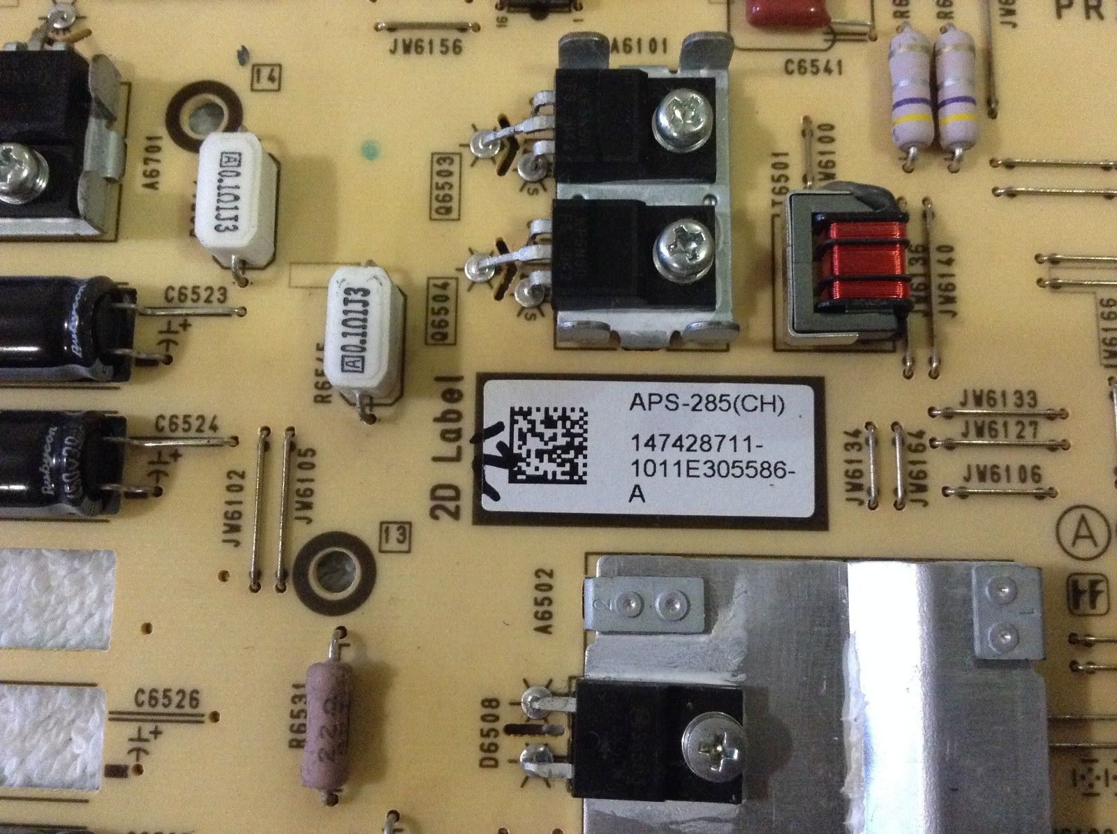 Sony 1-474-287-11 APS-285(CH) GE3 Power Supply Board for KDL-40E