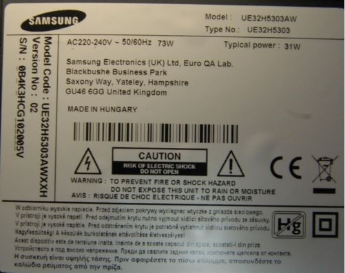 BN44-00768A PSLF780H06A L32HF_ESM rev 1.2 UE32H5303 power supply